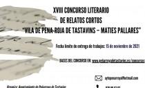 """XVIII CONCURSO LITERARIO DE RELATOS CORTOS """"VILA DE PENA-ROJA DE TASTAVINS – MATIES PALLARES"""""""